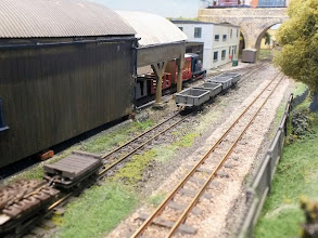Photo: 009 Looking along the approach track to Elmgate past the carriage shed with the standard gauge bridge acting as a view block to the actual station .
