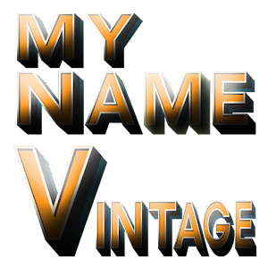 3D My Name Vintage Wallpaper