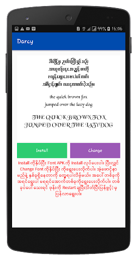 Myanmar Font Styles For SAMSUNG 1.1 screenshots 7