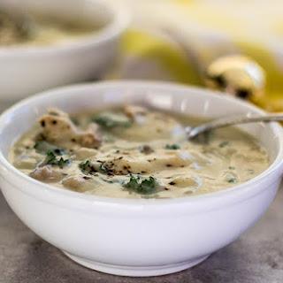 Creamy Sausage Potato Kale Soup (Dairy Free).