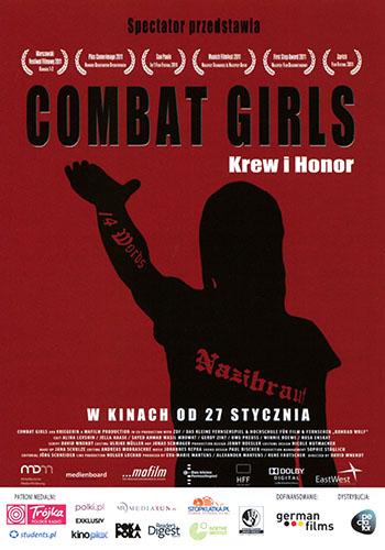 Przód ulotki filmu 'Combat Girls. Krew i Honor'