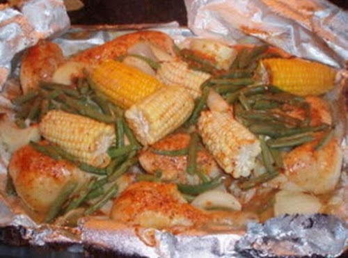 """Chicken and Vegetable Dinner """"I love this recipe! If you don't have..."""
