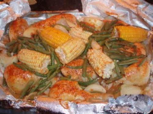 "Chicken and Vegetable Dinner ""I love this recipe! If you don't have..."