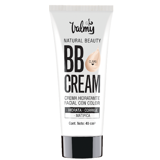 crema hidratante facial  natural beauty valmy bb cream con color tono claro 01