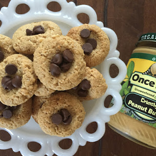 Thumbprint Peanut Butter Cookies with Chocolate Chips