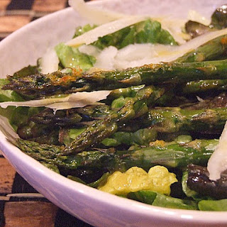 Spring Lettuce Salad with Roasted Asparagus.