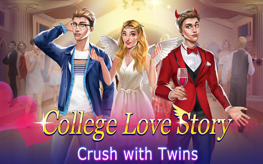 College Love Story u2764 Crush on Twins! Girl Games 1.0 screenshots 11