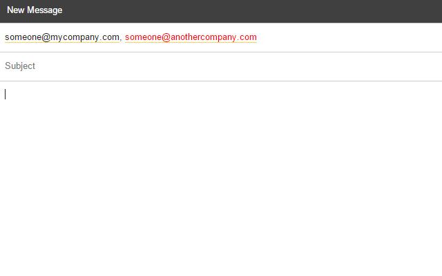 Gmail External Email Highlighter