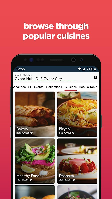 Zomato - Restaurant Finder and Food Delivery App screenshots