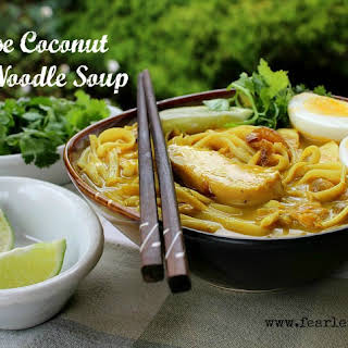 Burmese Coconut Chicken Noodle Soup.