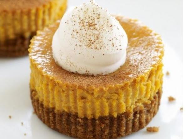 Mini Pumpkin Pie Cheesecakes Recipe