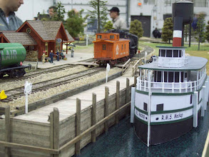 Photo: A steamer waits for vacationers at the Muskoka Pier.