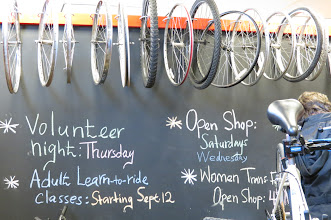 Photo: Community bike shop