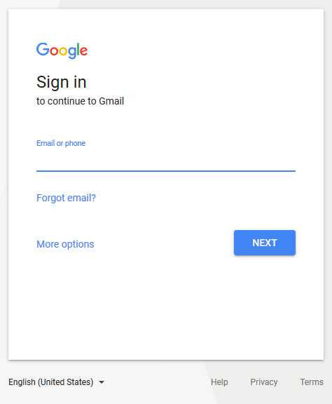 Sign In to Gmail