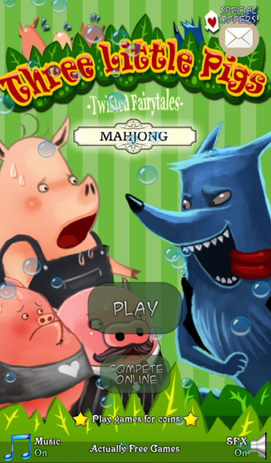 Hidden Mahjong: 3 Little Pigs- screenshot
