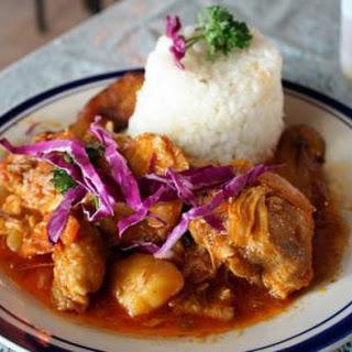 (Caribbean chicken fricassee)