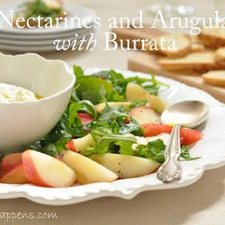 Nectarines and Arugula with Burrata Appetizer Recipe