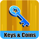 Keys & Coins For Subway Surfer icon
