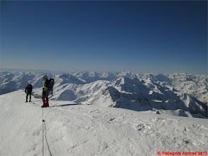 Photo: IMG_2406 Marco e Riccardo in discesa dalla cima, con Ortles Cevedale sullo sfondo