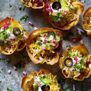 Mini Taco Bowls Bites.