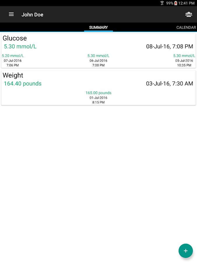 Diabetes Journal- screenshot