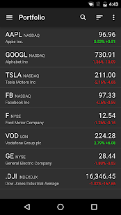 Stocks - Realtime Stock Quotes- screenshot thumbnail