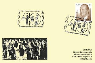 Photo: Matasellos de 40 aniversario de los Humanitarios de San Martín de Moreda en 2006
