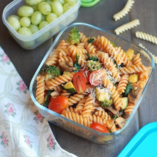 Pasta With Vegetables And Homemade Marinara Sauce