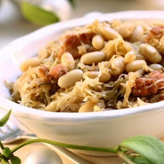 White Beans with Cabbage