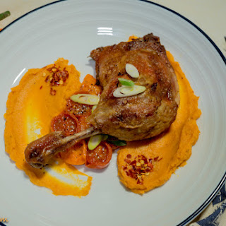 Duck and Sweet potato puree