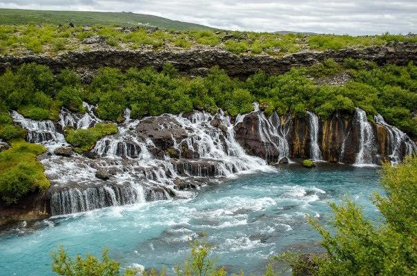 Hraunfossar, Borgarfjörður
