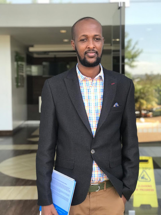 Abdullahi Mire, 29, wants to ensure every child has his own course book for efficiency in learning