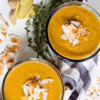 Pumpkin Coconut Curry Soup.