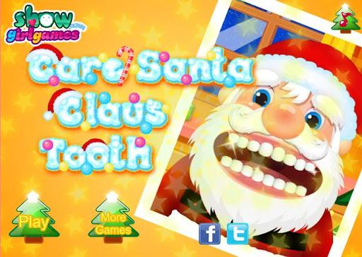 關懷聖誕老人牙齒