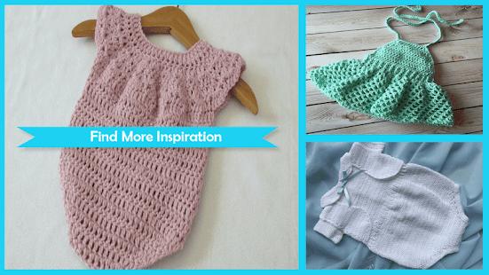 Easy Crochet Baby Romper - náhled