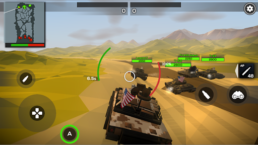Poly Tank 2: Battle Sandbox apkmind screenshots 3