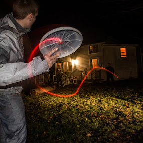 Frisbee by Miles Scanlon - Sports & Fitness Other Sports ( flash, light trail, drag, light, flash and drag, frisbee )