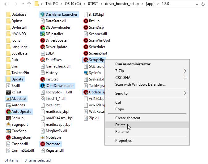 Delete file/folder