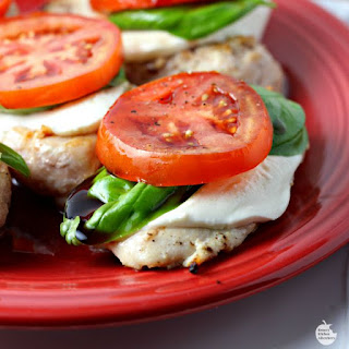 Easy Grilled Caprese Chicken.