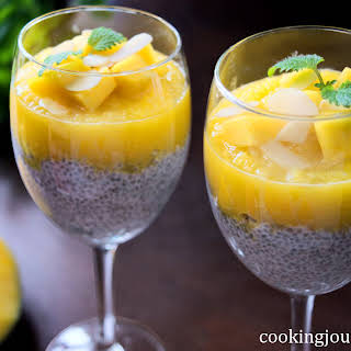 Chia Seed Pudding With Mango.