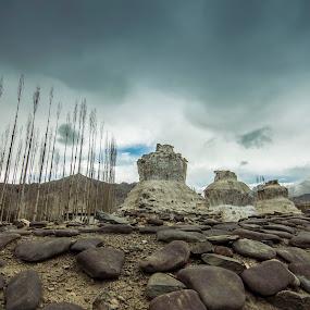 CHORTEN | LADAKH by Inderjit Singh - Landscapes Mountains & Hills ( leh, inderanim, ladakh, landscapes, hues )