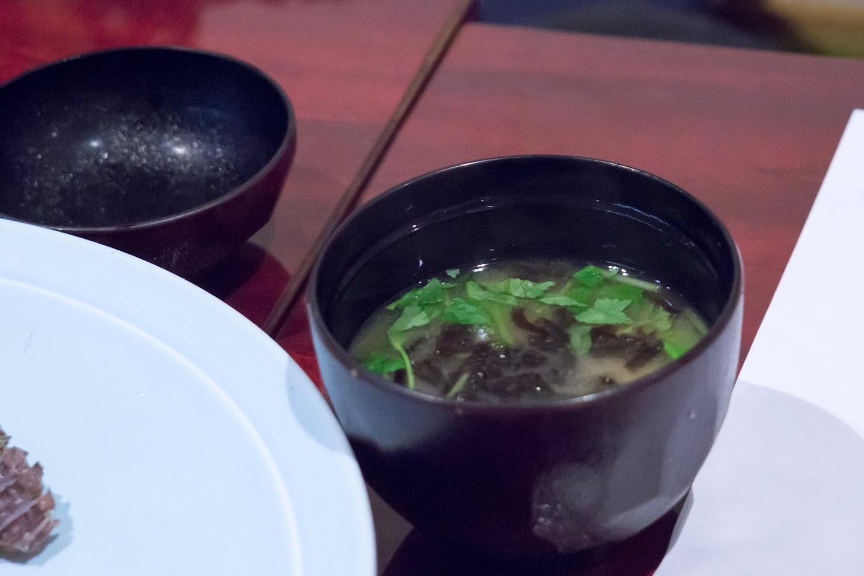 水菜と海苔の爽やかな味噌汁