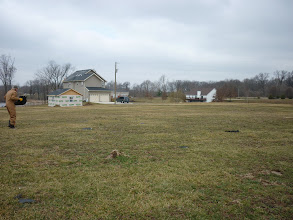 Photo: Where I picked up the section of our roof that was blown off.