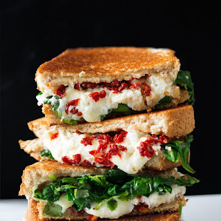 Sun Dried Tomato Spinach and Ricotta Grilled Cheese.