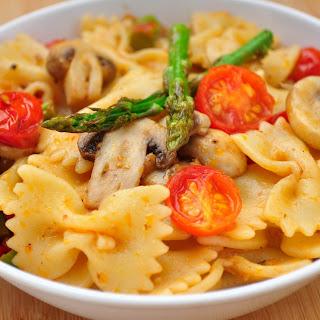 Bow Tie Pasta With Mushroom & Asparagus