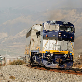 Loco by Richard Michael Lingo - Transportation Trains ( engine, california, bend, train, transportation )