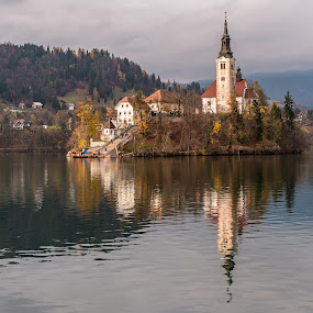 Lake Bled ,Slovenia by Andrej Kozelj - Landscapes Waterscapes ( landmark, church, lanscape, slovenia, bled, lakes, lake, island )