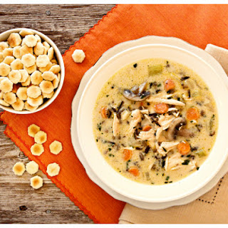 Creamy Turkey {or Chicken!} and Wild Rice Soup.