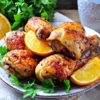 Crockpot Orange Glazed Chicken.