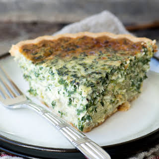 Spinach and Artichoke Quiche.